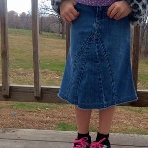 Gap Jeans Blue Denim A-Line Skirt Girls Size 5